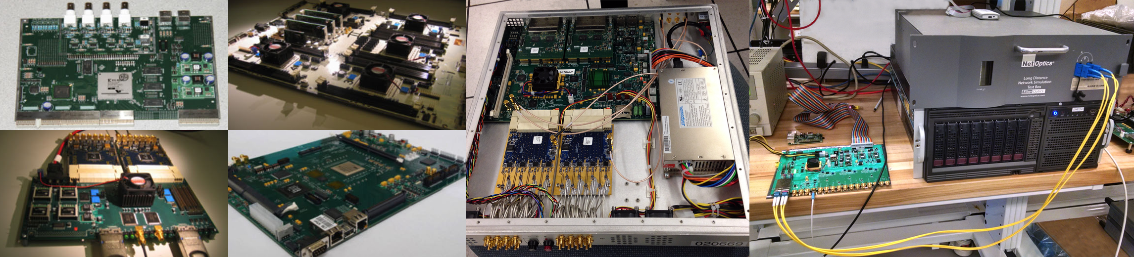Technical Design Electrical Wiring Board Six Generations Of Casper Digital Signal Processing Left To Right Culminating In The Snap Along With Long Haul Fiber Link Test Setup